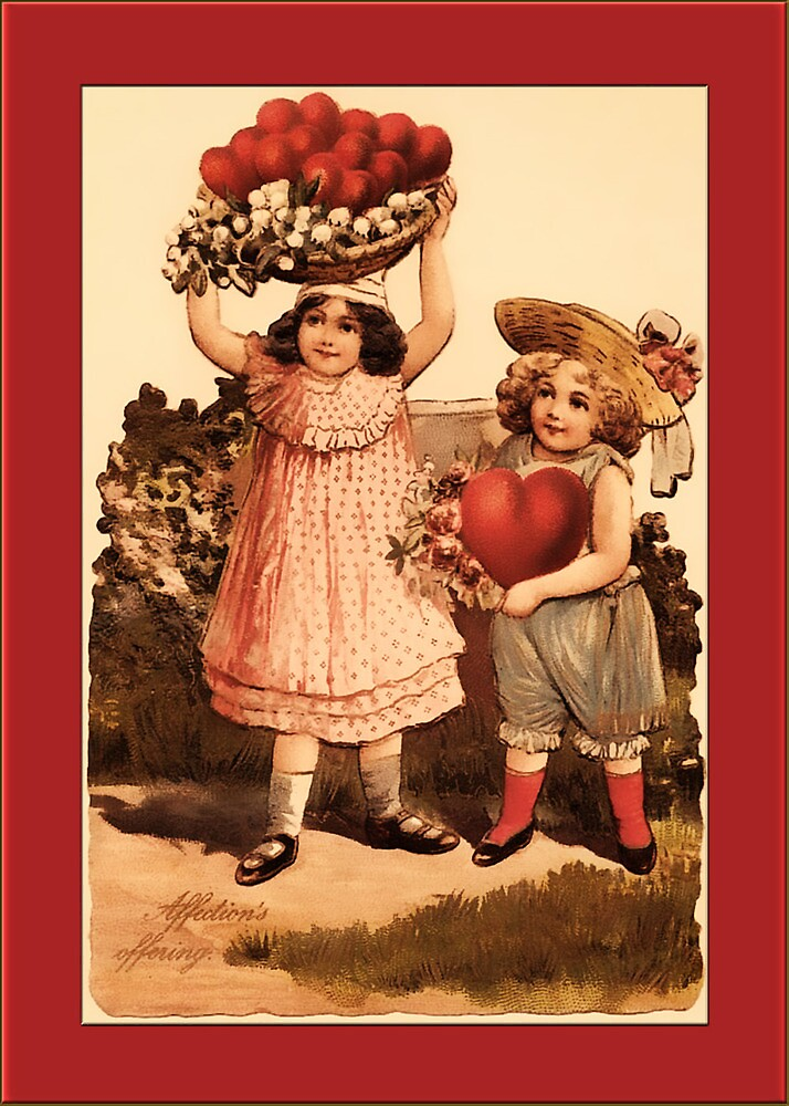 Valentine-Kids and Hearts by Yesteryears