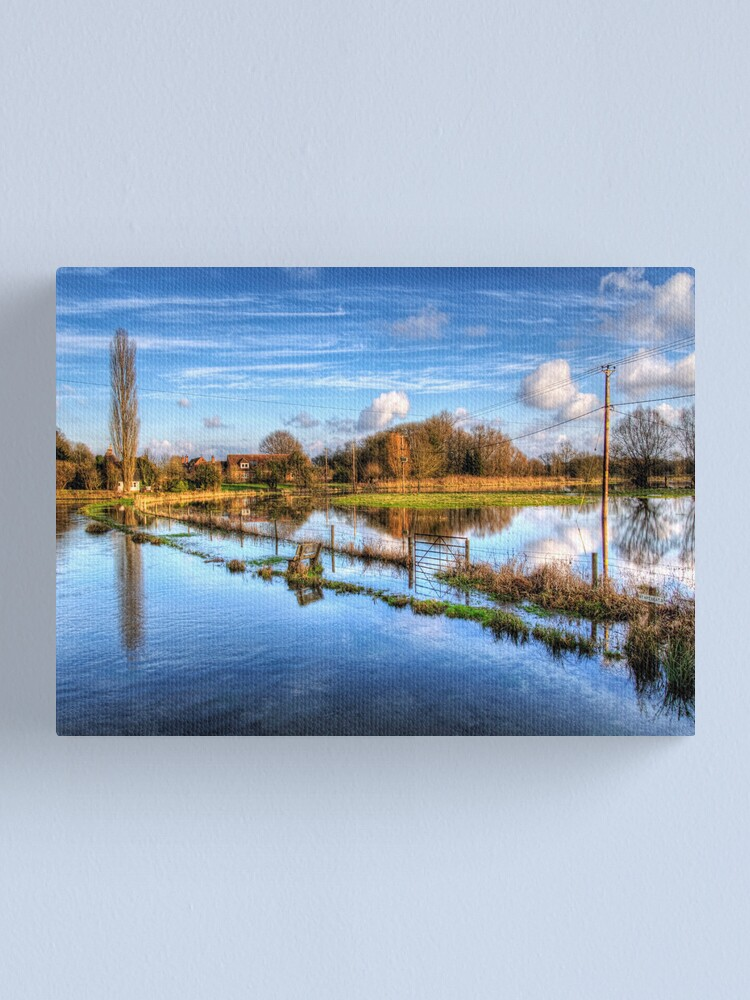 Alternate view of the River Test at Wherwell Canvas Print