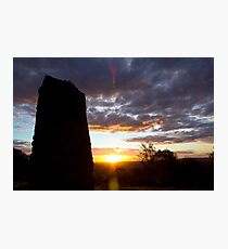 Sculpture Sunset Photographic Print