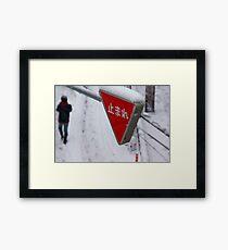 Stop ... It is snowing Framed Print