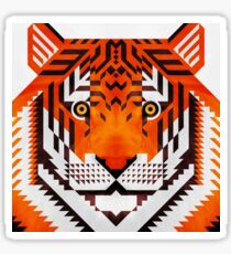 Triangle Tiger Sticker