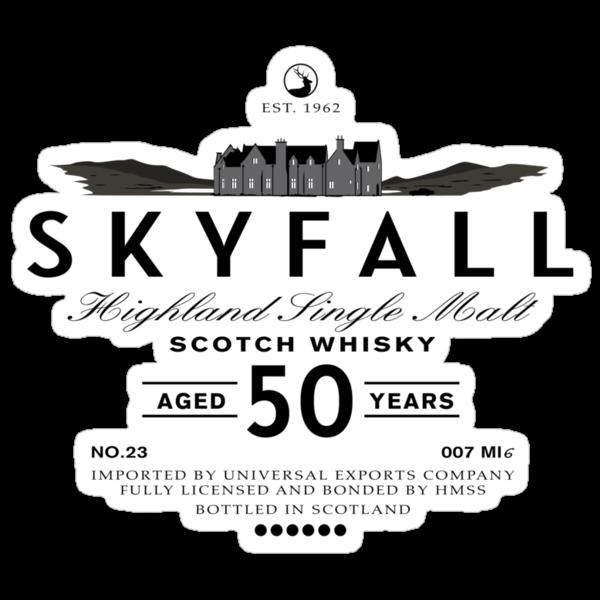 Skyfall Scotch Whisky Black by Crocktees