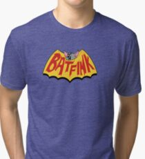 "Batfink - ""My wings are like a shield of steel!"" Tri-blend T-Shirt"