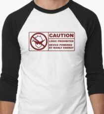 Powered By Manly Energy Men's Baseball ¾ T-Shirt