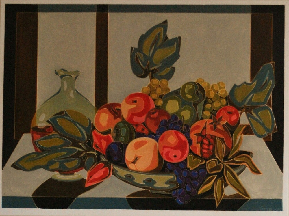 Still Life With Fruit And Wine by Varvarasty
