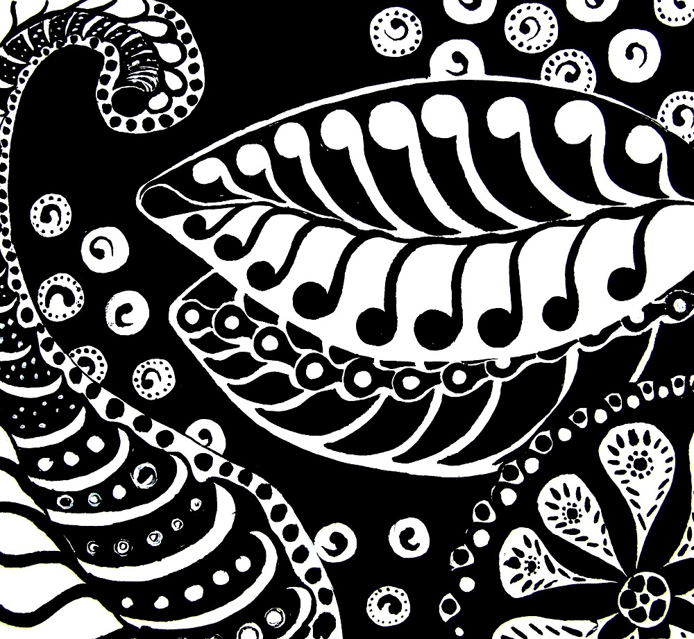 CEM-Black-White-003-Contemporary Ethnic Mix by Pat - Pat Bullen-Whatling Gallery