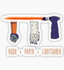 Rock Paper Lightsaber Sticker