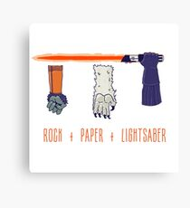 Rock Paper Lightsaber Canvas Print