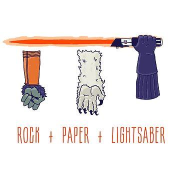 Rock Paper Lightsaber by Tiki2