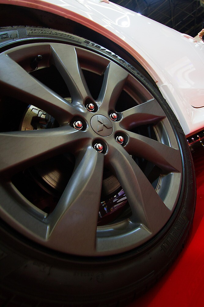 Mitsubishi Lancer Sportback Ralliart Wheel [ Print & iPad / iPod / iPhone Case ] by Mauricio Santana