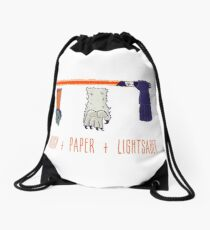 Rock Paper Lightsaber Drawstring Bag