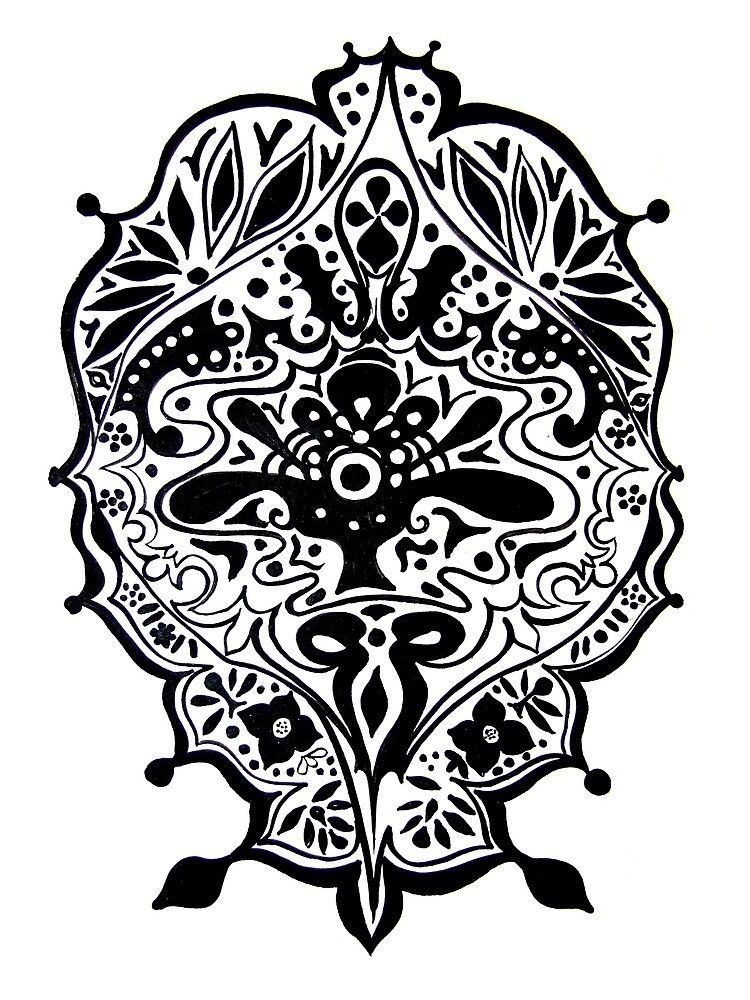 CEM-Black-White-007-Contemporary Ethnic Mix by Pat - Pat Bullen-Whatling Gallery