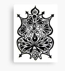 CEM-Black-White-009-Contemporary Ethnic Mix Canvas Print