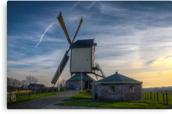 windmill at sunset by Nicole W.