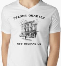 Mardi Gras French Quarter New Orleans Men's V-Neck T-Shirt