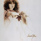 """""""Girl with Maple Leaf"""" Painting in Oils by Sara Moon"""