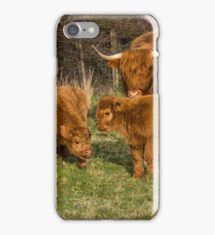 Highland Cow Family iPhone Case/Skin