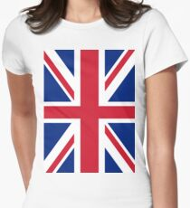 Union Jack Flag Women's Fitted T-Shirt