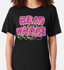 Mardi Gras Bead Whore Slim Fit T-Shirt