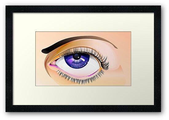Eye study by JerryWayne Anderson