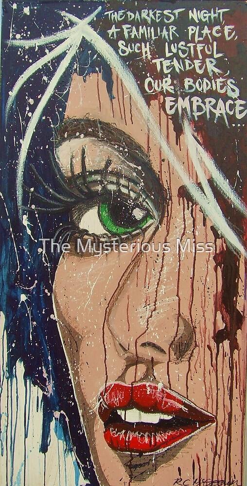Darkest Night Pop Art Street Art Fairground Art by The Mysterious Miss