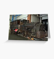 OLD ENGINE . Greeting Card