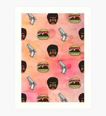 Pulp Fiction Big Kahuna Burger Pattern Art Print