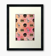 Pulp Fiction Big Kahuna Burger Pattern Framed Print