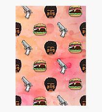 Pulp Fiction Big Kahuna Burger Pattern Photographic Print