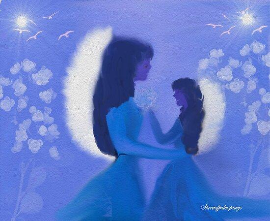 MOM AND DAUGHTER MIDNIGHT ANGELS by SherriOfPalmSprings Sherri Nicholas-