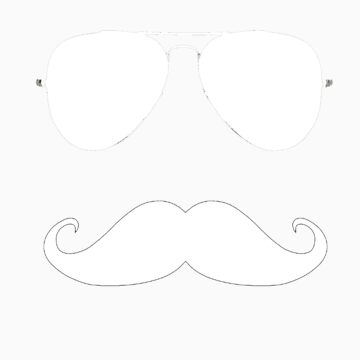 mustache white  by woodywoodpeker