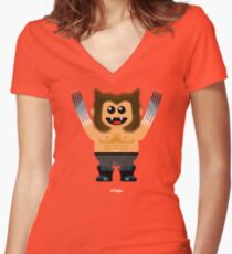 WOOFIE Women's Fitted V-Neck T-Shirt
