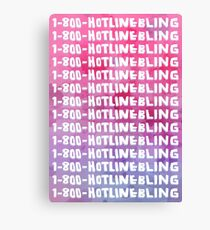 Hotline Bling Drake Watercolour Illustration Canvas Print