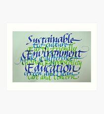 Eco-consciousness Art Print