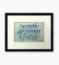 Eco-consciousness Framed Print