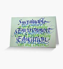 Eco-consciousness Greeting Card