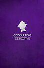 Sherlock Silhouette iPad/iPhone Case - Purple by jlechuga