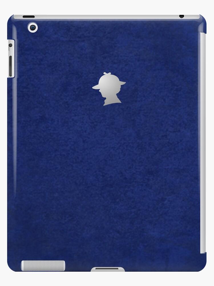 Sherlock Silhouette iPad/iPhone Case - Blue by jlechuga