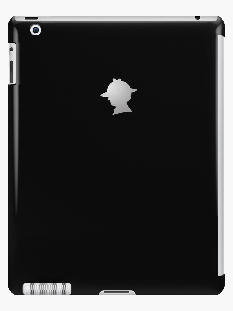 Sherlock Silhouette iPad/iPhone Case - Black by jlechuga
