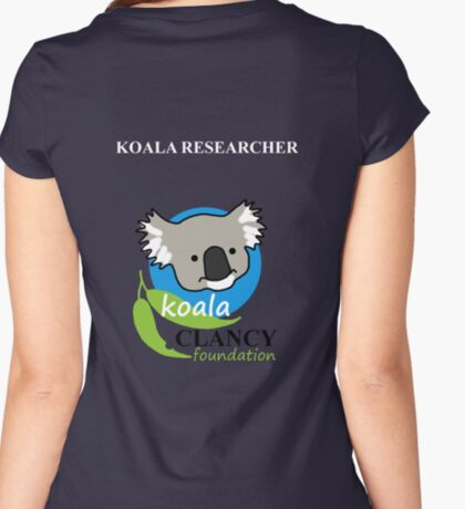 Koala Clancy Foundation - large logo researcher Fitted Scoop T-Shirt