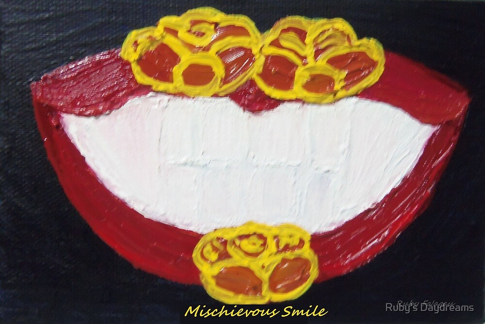 """Mischievous Smile"" painting by Ruby's Daydreams"