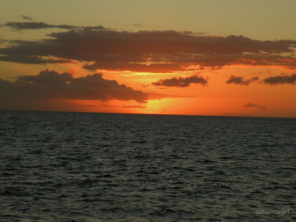 Maui Sunset by satsumagirl