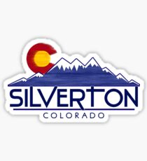 Silverton Colorado wood mountains Sticker