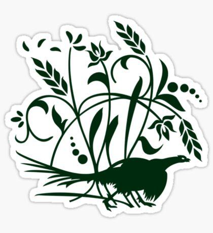 Pheasant in the Field VRS2 Sticker