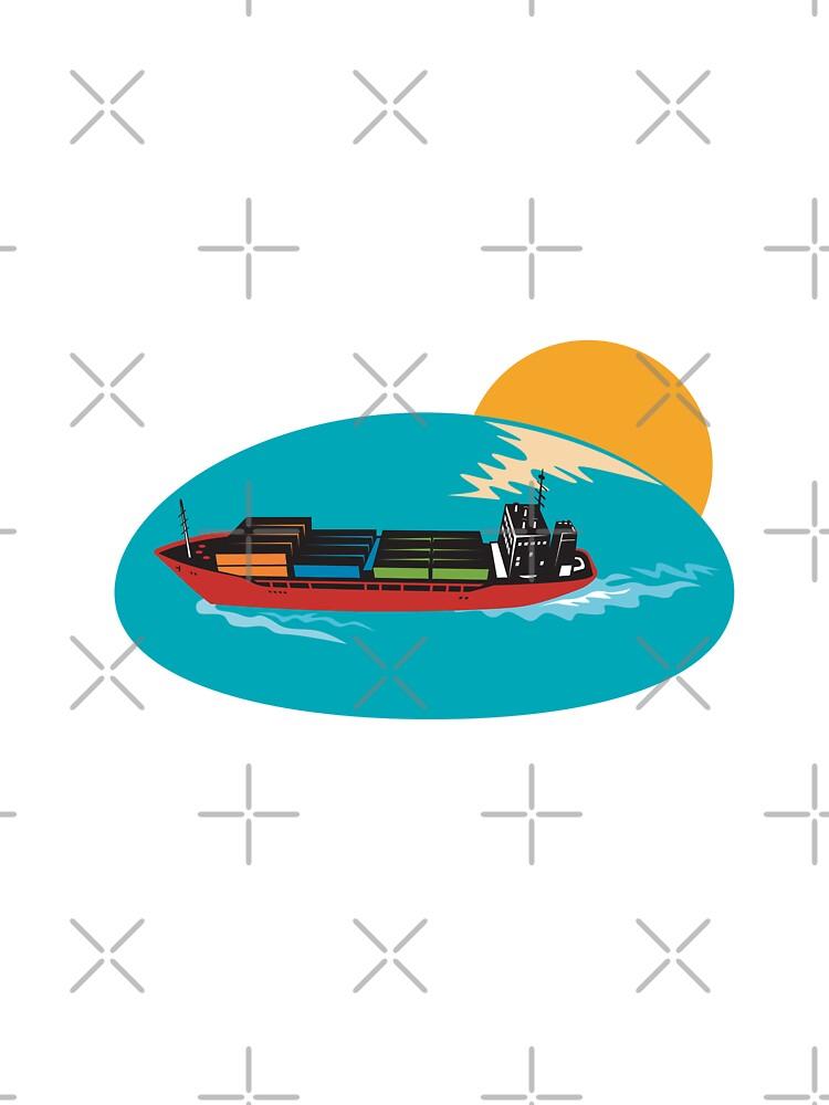 Container Ship Cargo Boat by patrimonio