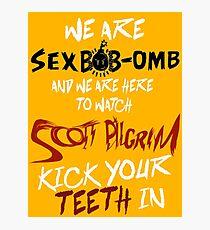 WE ARE SEX BOB-OMB Photographic Print