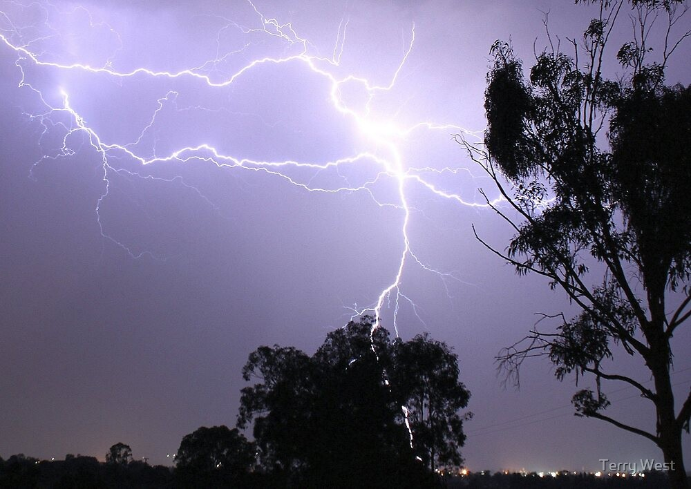 Lightning Over Warwick by Terry West