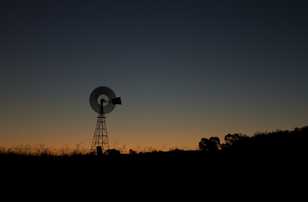 Windmill At Dusk by DJCPhotography
