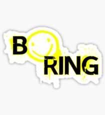 B☻ring Sticker