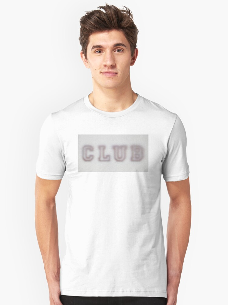 CLUB faded t-shirt Unisex T-Shirt Front
